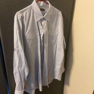 Stetson checkered button down shirt